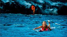 夏威夷:比基尼美女 火山口冲浪