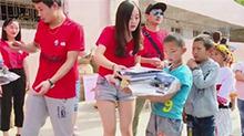 芒果娱乐助学虎形山瑶族乡中心学校 温暖寒门学子