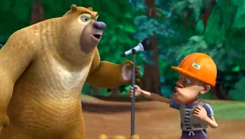 《熊出没之夏日连连看》熊大熊二与光头强握手言和?
