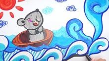 5068网儿童画第26期:冒险的小老鼠