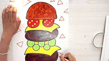 5068网儿童画第29期:会变形的汉堡