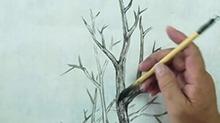 5068网国画课程第21期:树木 皴擦点技法