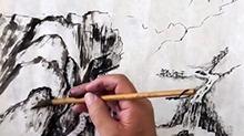 5068网国画课程第39期:小品2 范画皴擦
