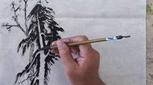 5068网国画课程第41期:竖幅长卷 树木勾线
