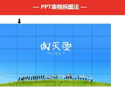 【趣你的PPT之基础教程】如何利用表格把PPT图片分成很多小块