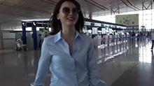 气质女神<B>陈数</B>独闯机场 嘱咐记者把自己拍美点