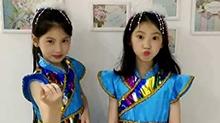 家有超高回头率双胞胎姐妹花 弹<B>古筝</B>秀舞蹈一对贴心小棉袄