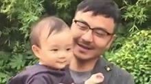 汪涵<B>杨乐乐</B>小沐沐温馨生活日常 超幸福的一家人!
