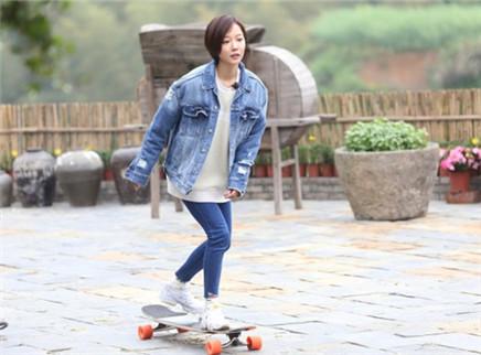第6期:王珞丹秀花式滑板