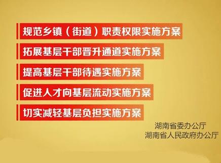 湖南印发《规范乡镇(街道)职责权限实施方案》等五个方案