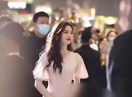 刘诗诗粉裙造型展温柔优雅气质